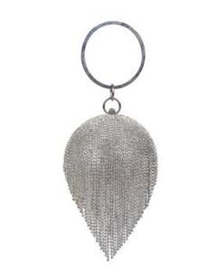 Neues design strass quaste frauen handtaschen mit griff runde perlen abendtasche diamanten perle tag kupplungen abendtaschen