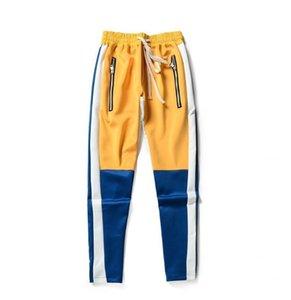 Mens zipper pants hip hop Fear Of God Fashion sweatpants red bottoms justin bieber FOG joggers pants streetwear