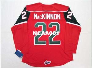 Homens # 22 NATHAN MacKINNON HALIFAX MOOSEHEADS Jersey de Hóquei Home Longe Do Vintage ou personalizado qualquer nome ou número retro Jersey