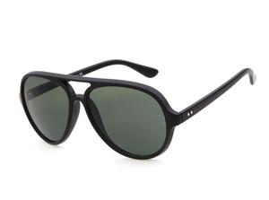 مصمم أزياء النظارات الشمسية الرجال النساء العلامة التجارية بلانك الإطار 5000 عدسات المرآة UV400 Retros القطط نظارات 4125 نظارات شمسية مع الحالات