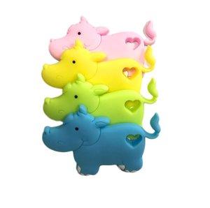 nuovi arrivi cute design baby kids dentizione giocattoli bpa free baby silicone teether mix di animali disegni