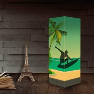 Surf-Papier Schatten Night USB-Leuchten Indoor-Hauptdekoration Lampen Schreibtisch Tischleuchte als Geschenk für Kinder Großhandelsdropshipping