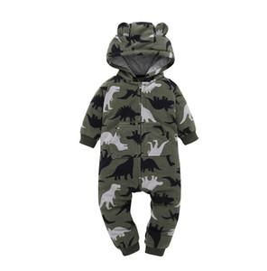 weiß schwarz Neugeborenen Bebe Overall Baby Strampler Baby Boy Girl print Dinosaurier Strampler Schaf Fleece Infant Babys Kleidung Meninas Overall