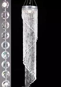 Il centro acrilico di cristallo di cristallo di modo di nozze di lusso del cavo della via di nozze del cavo di modo H120cm / 20cm di diametro