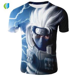 New Fashion Summer Clothing Characters Anime Men Round 3D Anime T-shirt Cartoon Women's Printing Neck T-shirt Sjoit