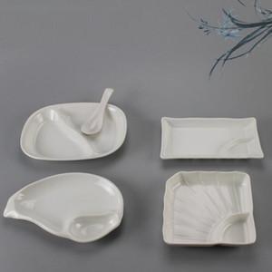 Имитация фарфора морская улитка раковины дизайн меламин тарелка блюдо ужин еда тарелка закуски суши плиты ZA6541