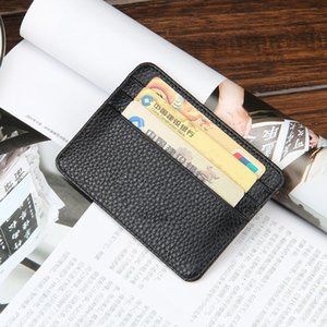 New arrivals fashion Mens PU Leather Wallet Front Pocket RFID Blocking Slim Mini Card Holder Purse