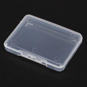 5PC Effacer Collection Container Cas magasin Petit plastique transparent avec couvercle bijoux boîte de rangement Boîte de finition 4 * 4.6 * 0.9cm