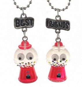Meilleurs amis pendentif colliers mignons enfants bijoux BFF collier de licorne Simulation Résine Cartoon Colliers Animal Series-1