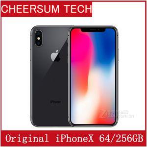 Original déverrouillé Apple iPhone X iphoneX 4G LTE téléphone portable 5,8 '' 12.0mp 3G RAM 64G / 256G ROM téléphone portable gratuit DHL