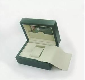 hohe Qualität Holzkisten Grüne Uhren Boxen Geschenkbox Crown Holzkiste Broschüren Karten Grüne Holzkiste