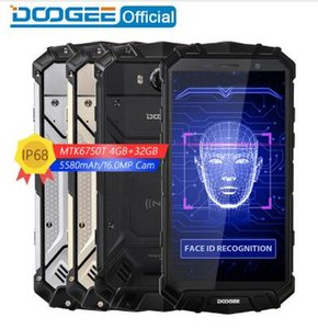 Yeni IP68 Su DOOGEE S60 Lite Kablosuz Şarj 5580 mAh 12V2A Hızlı Şarj 5.2 '' FHD MT6750T Octa Çekirdek 4 GB 32 GB Smartphone 16.0MP Cep Fonu