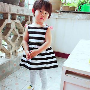 Baby Girls Dress Summer 2017 Stripe Dress 아기를위한 파티 드레스 홀리데이 베이비 복장 소녀 의상 소녀 귀여운 브랜드
