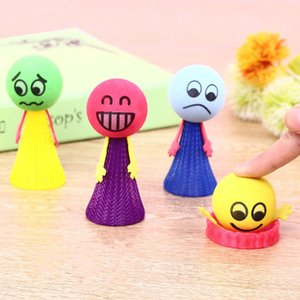 9cm Kawaii Bounce Ball Jouets Drôle Hip Hop Expressions PushDown Elf Villain Poupée Enfants Éducatifs enfants jouet Jeux Cadeaux Jouets De Décompression