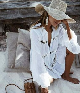 Frauen Sommer Badeanzug Strandkleid Damen Cover-Ups Badeanzug Strand Tragen Tunika Bikini Vertuschen Spitze Hohl Crochet