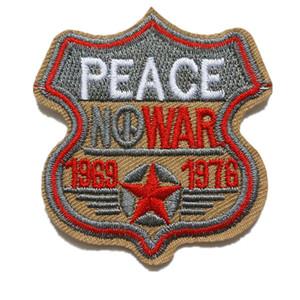 Patchs de paix brodés à coudre fer sur AUCUNE GUERRE armée insigne pour sac Jeans Chapeau Appliques DIY autocollant Décoration Vêtements Accessoires