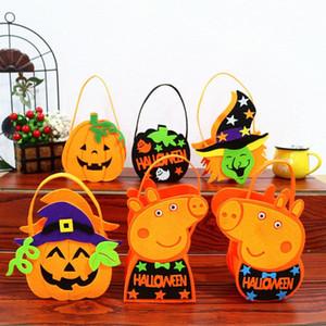 Bunte Halloween-Süßigkeit-Beutel-Geschenk-Beutel-Karikatur-Tierkürbis-Süßes sonst gibt's Saures Beutel-Beutel für Kinder scherzt Halloween-Dekoration