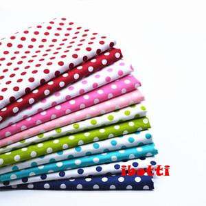 11pcs 40x50cm Couleur Points 100% Coton Tissu À Coudre Tilda Poupée Tissu BRICOLAGE Quilting Patchwork Tissu Textile Feutre Telas Costura