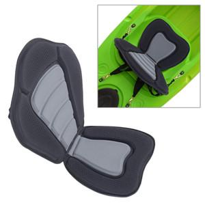 Asiento de confort ajustable acolchado para colocar Sentarse en la parte superior Canoa de kayak Respaldo alto Almohadilla de asiento