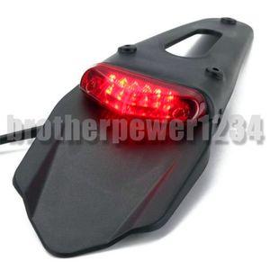 3 colores LED Fender Rear Fender Red Tail Light Lamp con soporte para Off-Road Motocicleta Motocross Dirt Bike