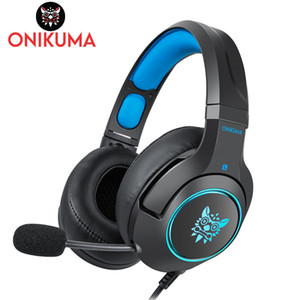 ONIKUMA K9 Gaming Headset para Laptop / PS4 / Xbox Um Controlador casque PC Fones De Ouvido Estéreo Fone De Ouvido com Microfone LEVOU Luz