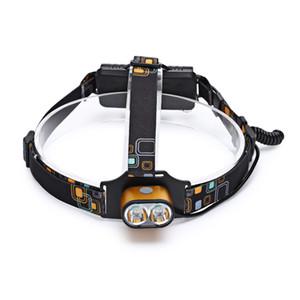 Yupard T25 3 Modes USB Rechargeable Projecteur Étanche Phare Cree XM - Lampe de poche à LED T6 pour la pêche sportive en plein air Camping Route à vélo