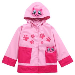 LZH 2018 Primavera Fiore Giacche Per Ragazze Trench Ragazze Giacca a vento Ragazzi Cappotto Impermeabile Bambini Capispalla Cappotto Abbigliamento per bambini