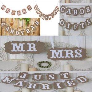 Vintage Wedding Bunting Banner Photo Booth Props Signs Garland Bridal Shower Wedding Decoration S1