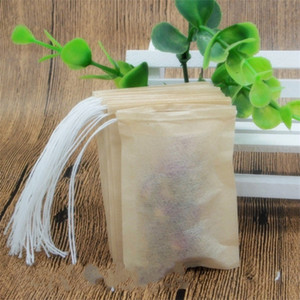 Portátil individual con cordón Heal bolsitas de té Herramientas desechables de pulpa de madera papel de filtro colador de té filtros de mangas Home Office 8 * 10 cm 0 08zs WW
