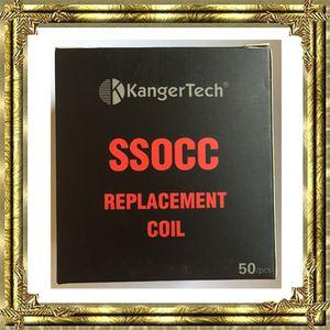 Vente chaude KANGER SSOCC Head 0.15OHM NI200 0.2OHM 0.5OHM 1.2OHM 1.5OHM CLAPTON VS OCC CLAPTON