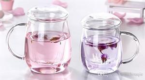 Resistente al por mayor de cristal de calor del té de la maceta Puer pote pote del café Juego de té conveniente Oficina Utensilios