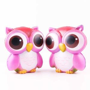 горячие продажи Сова Squishies Каваи Сова Squishy игрушки мягкие медленно RisingPhone ремень Squeeze перерыв детские игрушки облегчить беспокойство Рождественский подарок бесплатно
