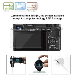 Film de protecteur d'écran en verre trempé à rayures ultra-clairs 9H pour la caméra Sony A6000 A6300 A5000 A5000