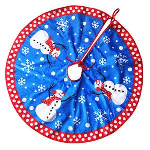 2 Teile / los 2016 Neue 80 cm Weihnachtsbaum Rock Blau Schneemann schneeflocke Weihnachten Oranments Liefert hochwertigen Polyester Plüsch natal