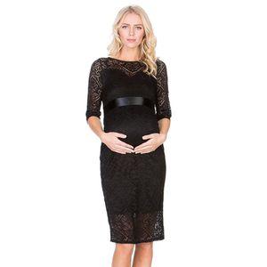 New Lace Maternity Dress Elegant Casual Half Sleeve Evening Dress For Pregnant Women Boat Neck White Pregnancy Dresses Summer