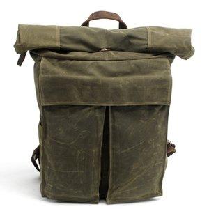 Batik Canvas Backpack Nouveau sac d'école simple rétro sac à bandoulière coréen pour hommes tendance