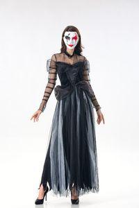 2018 Femmes Vampire Zombie Dress Effrayant Terror Ghost Bride Costume Halloween Robes De Cosplay Adulte