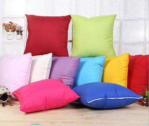 10 farben Heim Sofa Werfen Kissenbezug Reine Farben Polyester Weiß Kissenbezug Kissenbezug Decor Blank Kissenbezug Weihnachtsdekor Geschenk