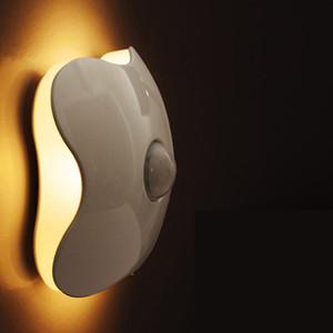 NEW 2018 Novelty PIR Motion Sensor 6pcs LED Beads Night Lights Light Control Human Body Induction Stairs Mini LED Closet Cabinet Wall Lamp