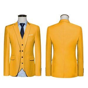 2018 neue ankunft Männer Anzug Blazer Männer Einfarbig Modische Lässige Blazer Masculino One Button Blazer Anzüge Bräutigam Hochzeitskleid