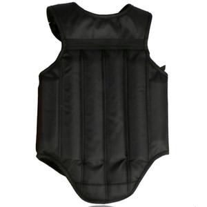 Protège-poitrine noir rouge Taekwondo Sanda Protecteur Kick boxe Karaté Muay Thai Chest garde réversible Body Vest Shields Protection