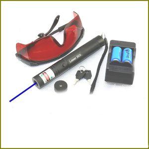 Penna puntatore laser blu regolabile BS5 450nm con caricabatterie 2 * 16340 Caricabatterie