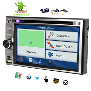 6.2'' Universal Double 2 Din In Dash Car DVD CD Player Android 7.1 Octa-Core 2G+32G Car Stereo GPS Navigation Radio Bluetooth
