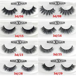 Hot 3D False Eyelashes Handmade Natural Long Soft Premium Quality Real Mink False Lashes Women Makeup Reusable Eyelashe