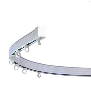 Alluminio Plastica Rod pieghevole tenda della finestra binario curvo guida interna Pulley