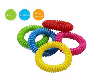 Big Discount 2000pcs Mosquito Repellent Bracelet Stretchable Elastic Coil Spiral hand Wrist Band telephone Ring Chain Anti-mosquito bracelet