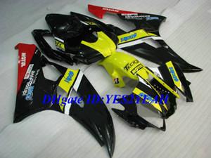 Литьевая форма обтекатель комплект для YAMAHA YZFR6 06 07 YZF R6 2006 2007 YZF600 ABS желтый черный обтекатели комплект + подарки YQ01