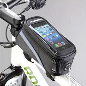 """Roswheel 4.2"""" 4.8"""" 5.5"""" İnç Su geçirmez Siyah Bisiklet Bisiklet Bisiklet Ön Telefon Çanta Kılıf Tutucu Zip Kılıfı iPhone için Mobil Cep telefonu"""