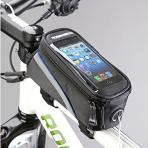 "ROSWHEEL 4.2"" 4.8"" telefone celular Inch Waterproof preto Ciclismo bicicleta Frente bicicleta saco do telefone Caso 5.5"" Titular Zip Pouch for Mobile iPhone"