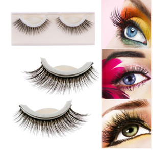 Charme cils 3D Faux Cils Auto-Adhésif Élégant Maquillage Faux Cils D'oeil Longue Extension Naturelle Flase Faux Cils